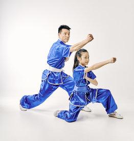 Kungfu Uniform - Blauw Satijnlook