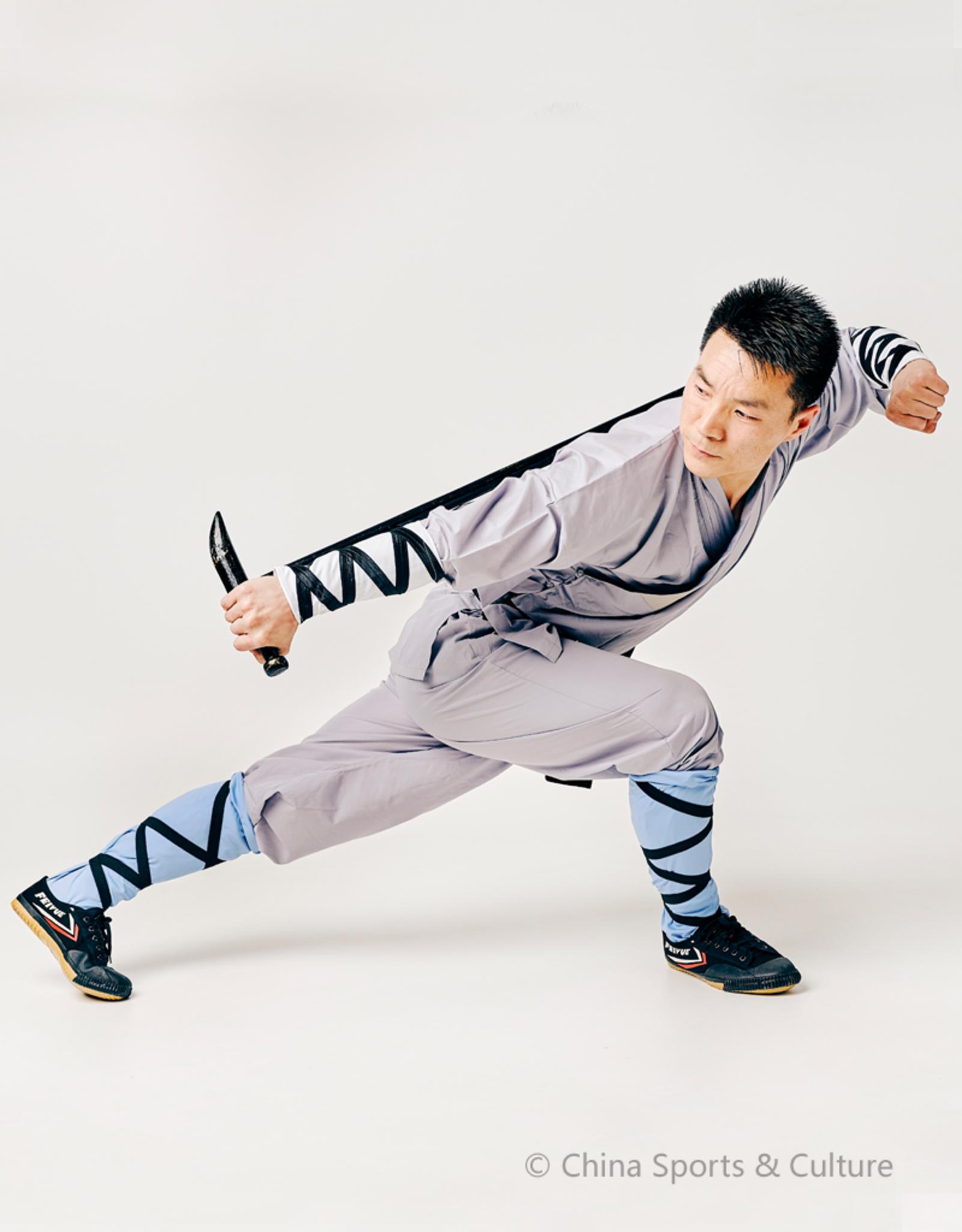 Shaolin Kung Fu Luohan Sokken - Blauw Maat: S