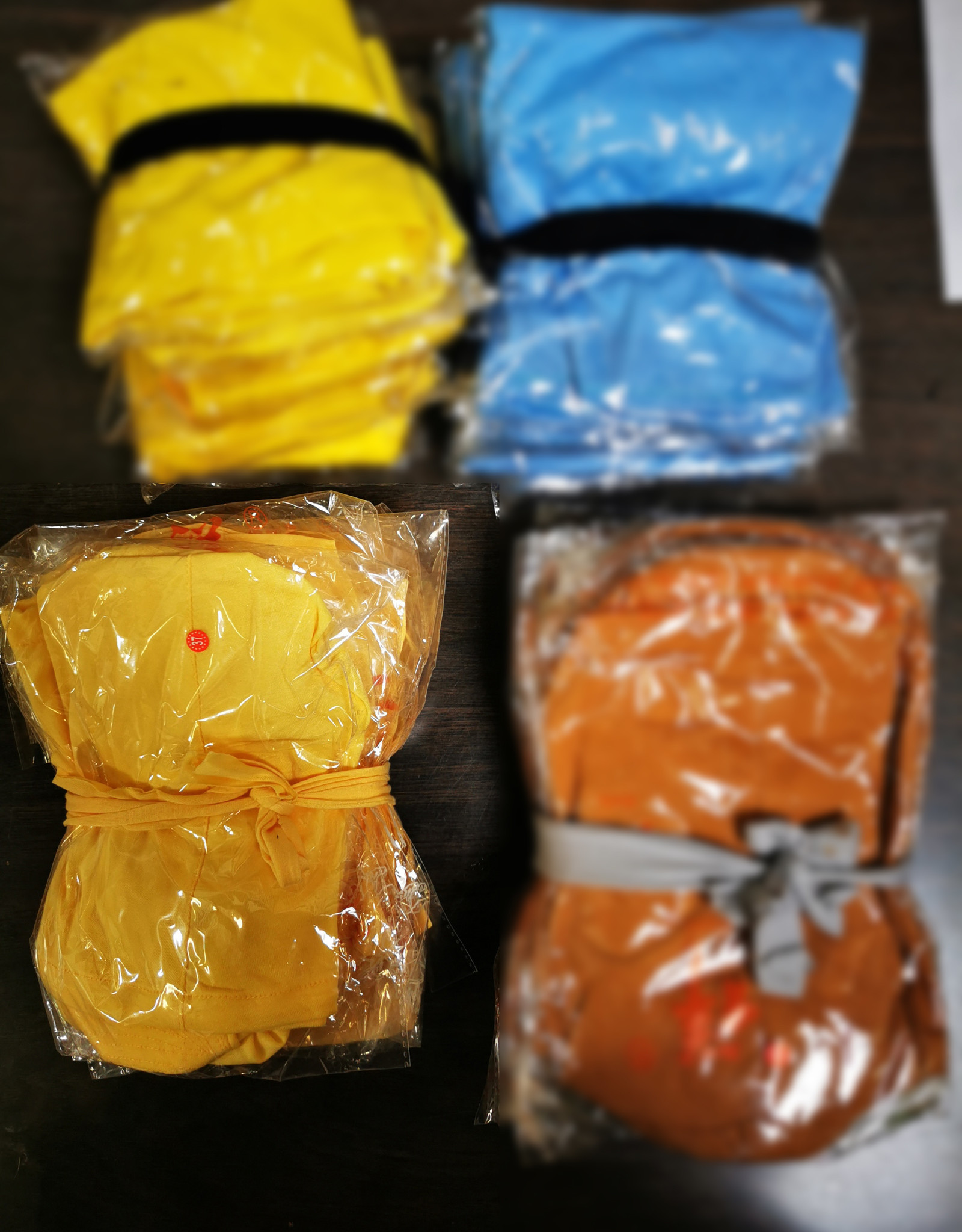 Shaolin Kung Fu Luohan Sokken - Licht geel