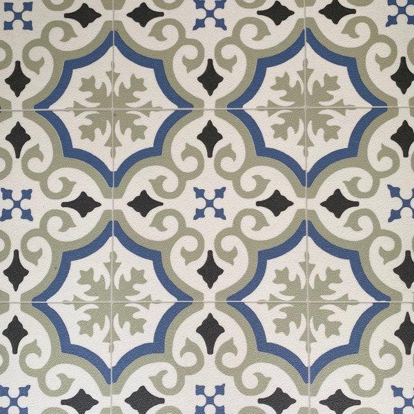 JYG Ename - Vinyl Keukenloper PVC tapijt. anti-slip. Voor bescherming van vloeren. Cementtegel ontwerp. - breedte 60cm
