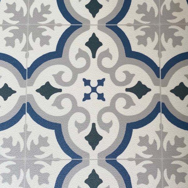 JYG ORVAL - Vinyl Keukenloper PVC tapijt. anti-slip. Voor bescherming van vloeren. Cementtegel ontwerp. - breedte 60cm