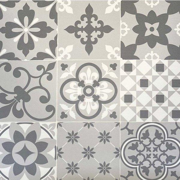 JYG HASSELT - Vinyl Keukenloper PVC tapijt. anti-slip. Voor bescherming van vloeren. Cementtegel ontwerp. - breedte 60cm