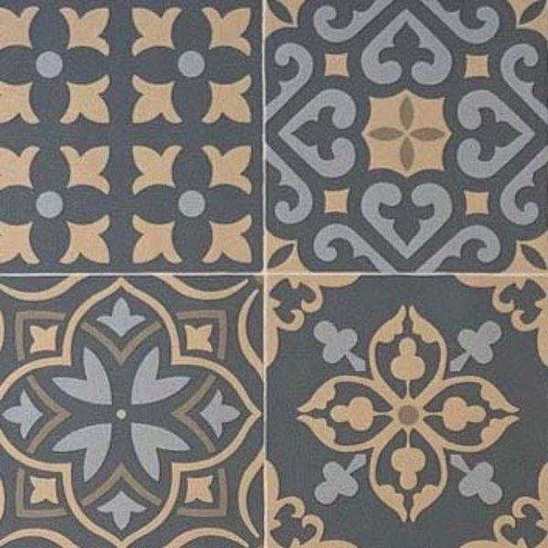JYG MONS  - PVC-Teppich  - rutschfest. - Zum Schutz von Fußböden - Zementfliesen-Design - breite 60 cm