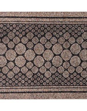 JYG Stones - tapis cuisine en  aiguilleté - marron - 66cm