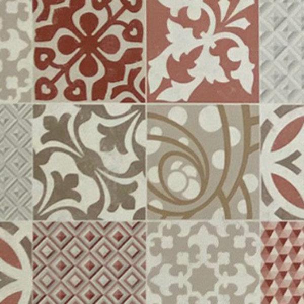 JYG FARO -Vinyl Keukenloper PVC tapijt. anti-slip. Voor bescherming van vloeren. Cementtegel ontwerp. - breedte 60 cm