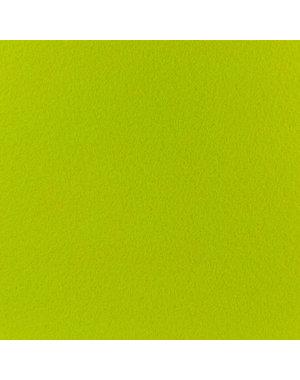 JYG Fluo groene tapijtloper met beschermfolie op lengte - 100 cm