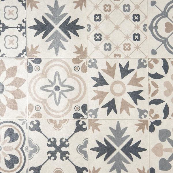 JYG Milano - Vinyl Keukenloper PVC tapijt. anti-slip. Voor bescherming van vloeren. Cementtegel ontwerp. - breedte 80 cm