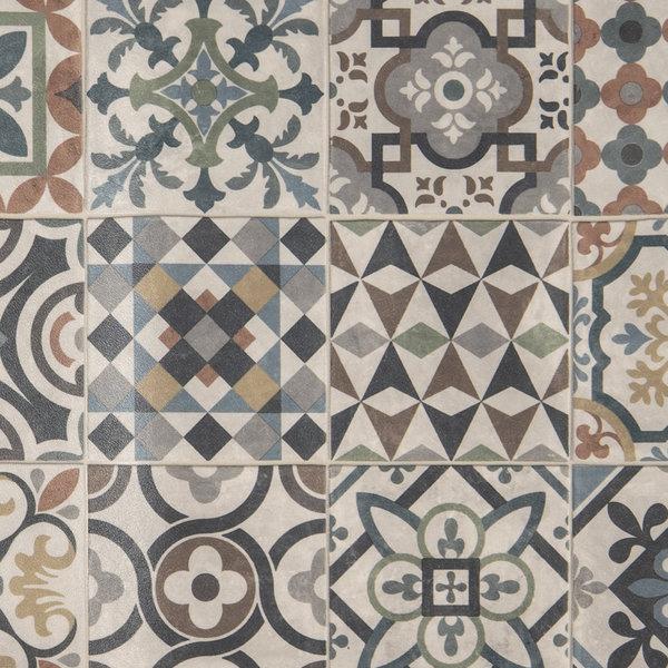 JYG Firenze - Vinyl Keukenloper PVC tapijt. anti-slip. Voor bescherming van vloeren. Cementtegel ontwerp. - breedte 60 cm