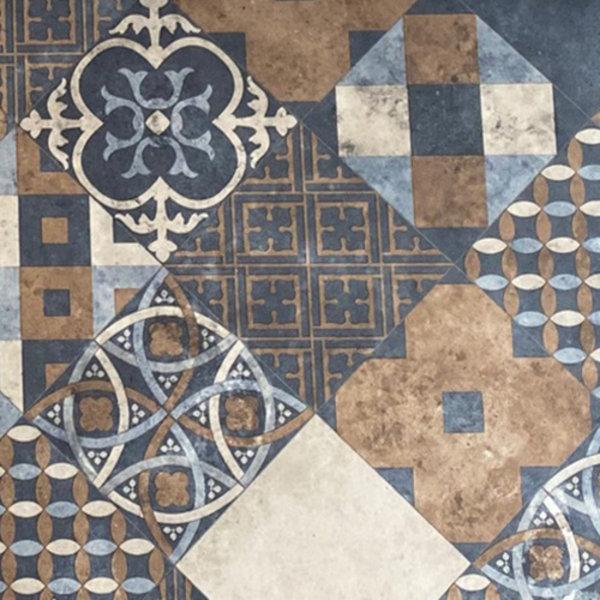 JYG Lille - Vinyl Keukenloper PVC tapijt. anti-slip. Voor bescherming van vloeren. Cementtegel ontwerp. - breedte 80 cm