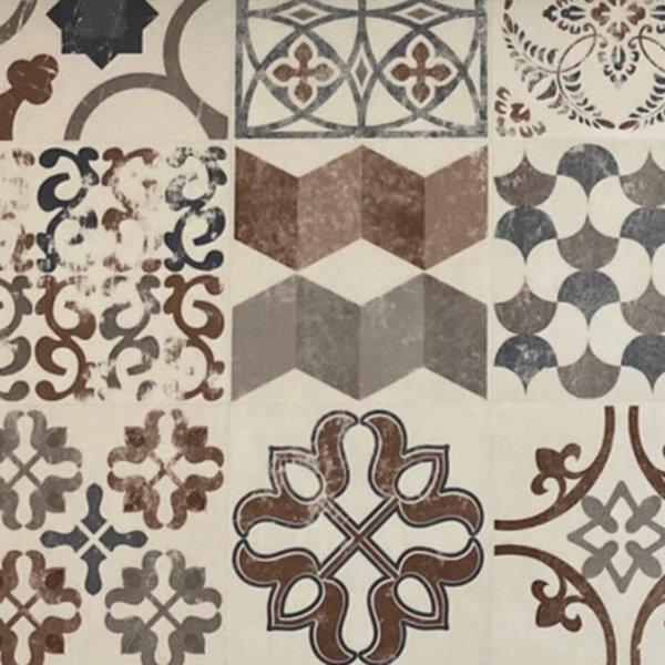 JYG Bonn - Vinyl Keukenloper PVC tapijt. anti-slip. Voor bescherming van vloeren. Cementtegel ontwerp. - breedte 0 cm