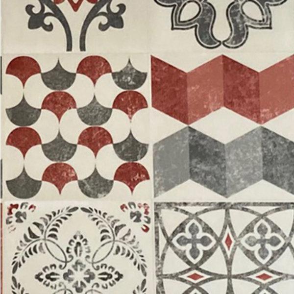 JYG Hamburg -Vinyl Keukenloper PVC tapijt. anti-slip. Voor bescherming van vloeren. Cementtegel ontwerp. - breedte 60 cm