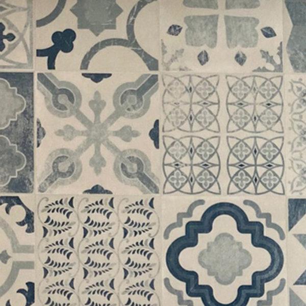 JYG Köln - Vinyl Keukenloper PVC tapijt. anti-slip. Voor bescherming van vloeren. Cementtegel ontwerp. - breedte 80cm
