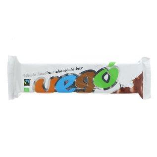 Vego Vego Organic Whole Hazelnut Chocolate Bar 150g