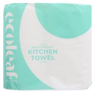 Ecoleaf Ecoleaf Recycled 3 Ply Kitchen Towel 2 Pack
