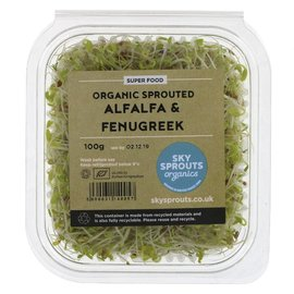 Sky Sprouts Sky Sprouts Organic Alfalfa & Fenugreek Sprouts 100g