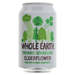 Whole Earth Whole Earth Organic Sparkling Elderflower 330ml