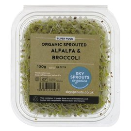 Sky Sprouts Sky Sprouts Organic Alfalfa & Broccoli Sprouts 100g