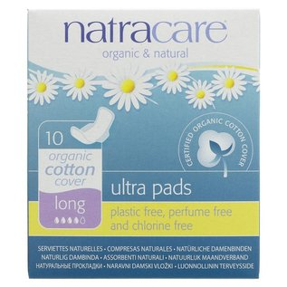 Natracare Natracare Organic Cotton Cover Long Ultra Pads 10 Pads
