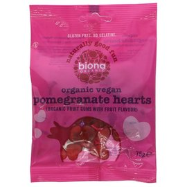 Biona Biona Organic Vegan Pomegranate Heart Sweets 75g