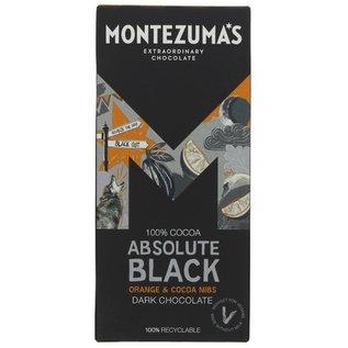 Montezuma's Montezuma's Absolute Black 100% Dark Chocolate with Orange & Cocoa Nibs 90g
