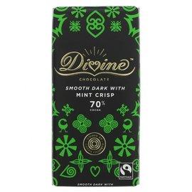Divine Divine 70% Dark Chocolate with Mint Crisp 90g