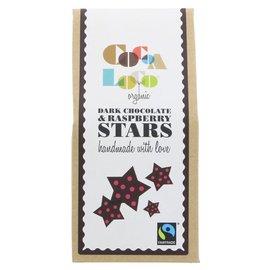 Cocoa Loco Cocoa Loco Organic Dark Chocolate Raspberry Stars 100g