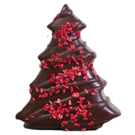 Cocoa Loco Cocoa Loco Organic Dark Chocolate Raspberry Christmas Tree 150g