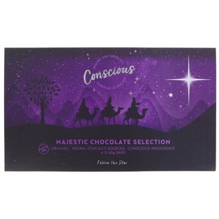 Conscious Chocolate Conscious Organic Majestic Chocolate Selection Box 240g