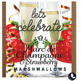 Ananda Foods Ananda Foods Let's Celebrate Champagne & Strawberry Marshmellows 80g