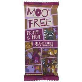 Moo Free Moo Free Fruit & Nut Chocolate Bar 80g