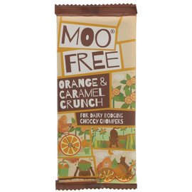 Moo Free Moo Free Orange & Caramel Crunch Chocolate Bar 80g