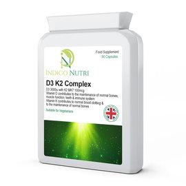 Indigo Nutri Indigo Nutri D3 K2 Complex 90 Capsules
