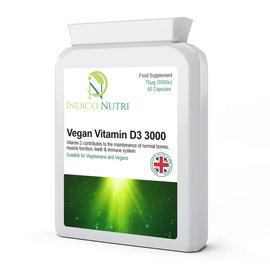 Indigo Nutri Indigo Nutri Vegan Vitamin D 3000iu 90 Capsules