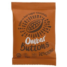 Ombar Ombar Organic 72% Raw Dark Chocolate Buttons 25g