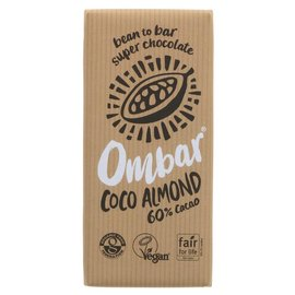 Ombar Ombar Organic 60% Raw Dark Chocolate Coconut Bar 70g