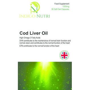 Indigo Nutri Indigo Nutri Cod Liver Oil 1000mg 90 Capsules