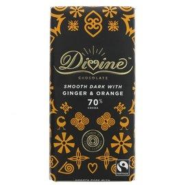 Divine Divine 70% Dark Chocolate with Ginger & Orange 90g