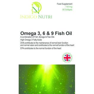 Indigo Nutri Indigo Nutri Omega 3, 6 & 9 Fish Oil 1161mg 90 Softgels