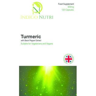 Indigo Nutri Indigo Nutri Turmeric 500mg with Black Pepper Extract 120 Capsules