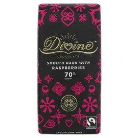 Divine Divine Dark Chocolate with Raspberries 90g