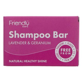 Friendly Soap Friendly Soap Lavender & Geranium Shampoo Bar 95g