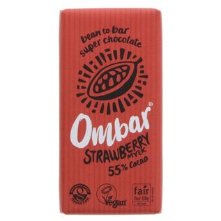 Ombar Ombar Organic Strawberry Mylk Raw Chocolate Bar 35g