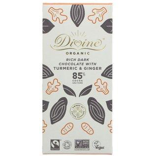 Divine Divine Organic 85% Dark Chocolate with Turmeric & Ginger 80g