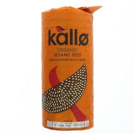 Kallo Kallo Organic Gluten Free Sesame Seed Wholegrain Rice Cakes 130g