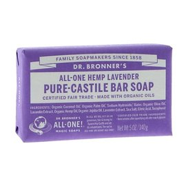 Dr Bronners Dr Bronners Organic Lavender Soap Bar 140g