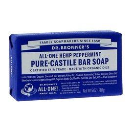 Dr Bronners Dr Bronners Organic Peppermint Soap Bar 140g