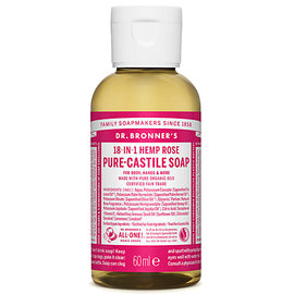Dr Bronners Dr Bronners Organic Rose Liquid Soap 60ml