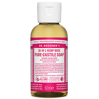 Dr Bronners Dr Bronners Organic Rose Liquid Soap 60ml