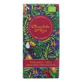 Chocolate and Love Chocolate & Love Organic Panama 80% Dark Chocolate 80g