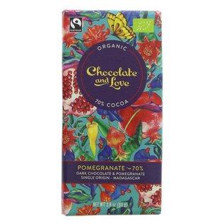 Chocolate and Love Chocolate & Love Organic Pomegranate 70% Dark Chocolate 80g